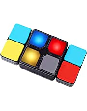 Aarushi Magic Cube Flipslide Puzzle Toy with Light, Fold Slide Brain Teasers, 4 Mode: Multiplayer/Speed/Level/Memory