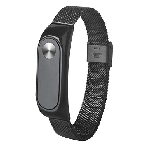 Para XIAOMI MI Band 2, ❤️ Manadlian Correa de reloj inteligente Moda Ligera correa de acero inoxidable Para Xiaomi Miband 2