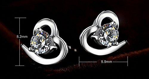 JVnus-Damen-Ohrstecker-Ohrringe-Set-Basic-925-Sterling-Silber-Ohrringe-mit-Etui