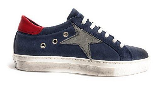 TONY WILD Zapatos de Cordones de Piel Para Hombre Rosso/Bianco/Blu Size: 40 4OL0uadDO