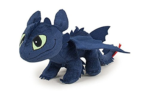 Desdentado Toothless Furia Nocturna Negro 40cm Muñeco Peluche Como Entrenar a Tu Dragon 2 (HTTYD 2) Pelicula Animacion Original
