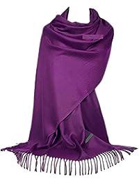 GFM® scialle morbido di cashmere texture in stile pashmina (C9)