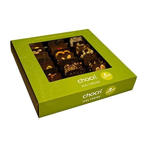 Schokolade Natürlichen Alle (Vegane schokoladige Weltreise von chocri - 24 Mini-Tafeln mit veganen Zutaten aus verschiedene Regionen der Welt - Fairtrade Kakao - CO2 Neutral - ohne tierischen Produkten und Milchfrei - handbestreut)