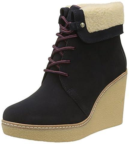 Tommy Hilfiger Damen B12385RANDY 1BW Desert Boots, Blau (Midnight), 37 EU