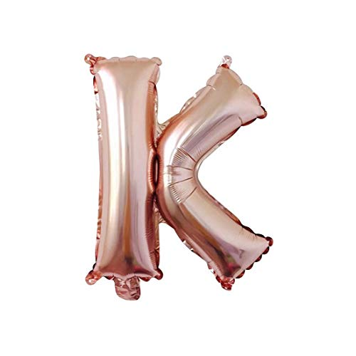 Hivexagon Globo con forma de letras y números de aluminio de 32 pulgadas Globos Decoración con Globos Pancarta para Fiestas de Cumpleaños Bodas Navidades (Rosa dorado) HP022