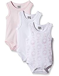 Care Baby Girls Bodysuit, Sleeveless, 3-Pack
