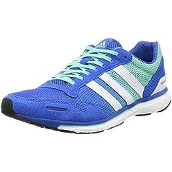 adidas Adizero Adios 3, Zapatillas de Running para Hombre, Azul (Blue/FTWR White/Easy Green), 39 1/3 EU