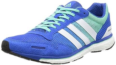 Adidas Herren Adizero Adios Laufschuhe, Mehrfarbig (Blue/Ftwwht/Easgrn), 46