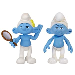 Smurfs Movie Basic Figure Pack Series #2 Vanity and Grouchy Smurf
