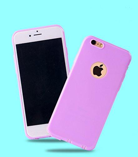 DBIT Anti-graffio Antiurto Caso Tpu Copertina Silicone Custodia per Apple iPhone 6 iPhone 6s Telefono Borse Giallo Porpora