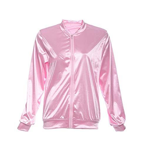 YHXMG Damen Jacke Frauen Basic Mäntel Solide Trainingsanzug Für Frauen JackeJacke Frauen Kostüm Fett Kostüm Rosa, Rosa, L (Rosa Damen Kostüm Aus Fett)