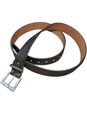 Trachtengürtel Trachten-Gürtel für Lederhose oder Jeans Ledergürtel braun echt Leder Schnalle versilbert Herren...
