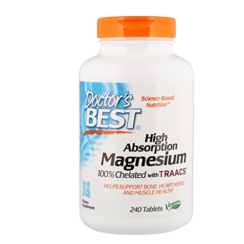 High Absorption Magnesium, 100% Chelated, 240 Tablets - Doctor's Best - Qty 1