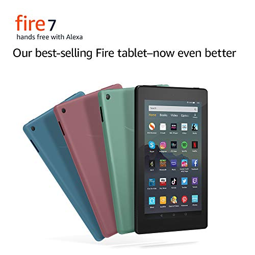 All-new Fire 7 Tablet | 7 display, 16 GB, Black with Special Offers Img 1 Zoom