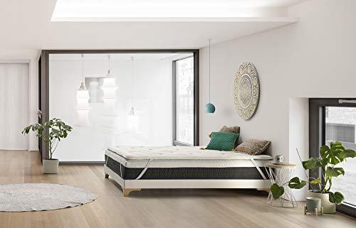 THE WISE FROG - COLCHON DESENFUNDABLE Premium Modelo Urban + 1 Topper | SOBRECOLCHÓN VISCOELÁSTICO (160 x 200 cm)