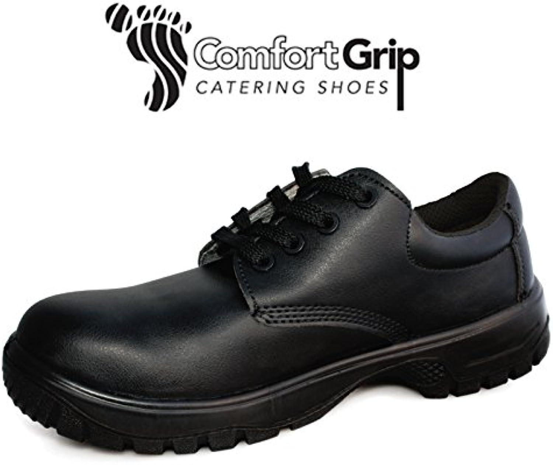 Denny's DK42-11 Comfort Grip - Zapatillas de cordones, talla 11, color negro