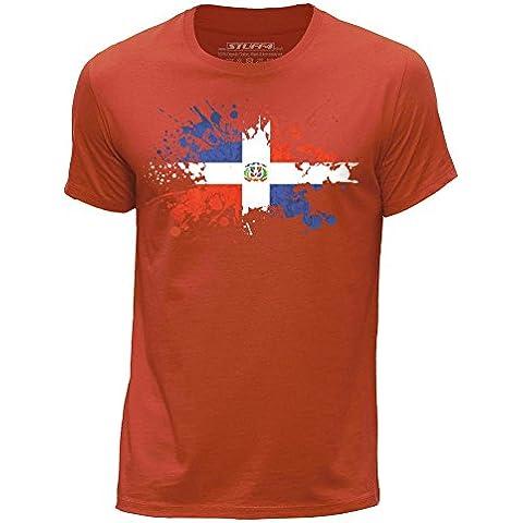 STUFF4 Uomo Girocollo T-Shirt/República Dominicana Bandera