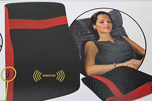 Kamaca Relaxing Massage Rückenkissen mit Vibration löst Verspannungen im Rücken batteriebetrieben universell einsetzbar stützend und praktisch für Reise (Rücken Massagekissen)