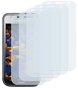 """5x mumbi Displayschutzfolie Samsung i9000 Galaxy S / i9001 Galaxy S PLUS Displayschutz """"CrystalClear"""" unsichtbar"""