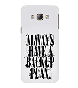EPICCASE Plan B Mobile Back Case Cover For Samsung Galaxy A8 (Designer Case)