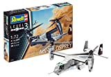 Revell Modellbausatz Flugzeug 1:72 - MV-22 Osprey im Maßstab 1:72, Level 3, originalgetreue Nachbildung mit vielen Details, 03964