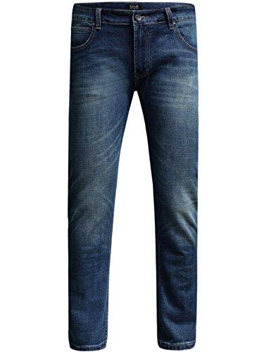 SSLR Herren Skinny Slim Fit Denim Jeans Blau