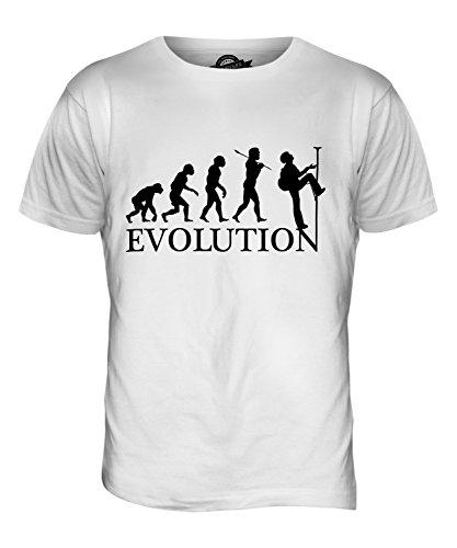 CandyMix Abseilen Evolution Des Menschen Herren T Shirt Weiß