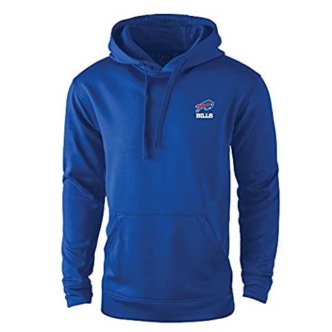 NFL Buffalo Bills adult Champion Polyester Tech Fleece Pullover, Small, Royal