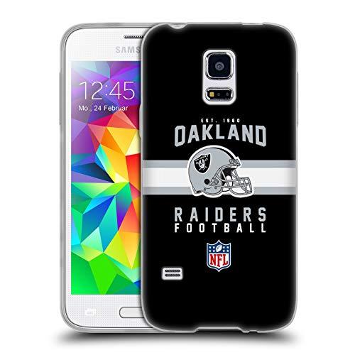 fizielle NFL Helm-Buchdruckerkunst 2018/19 Oakland Raiders Soft Gel Hülle für Samsung Galaxy S5 Mini ()