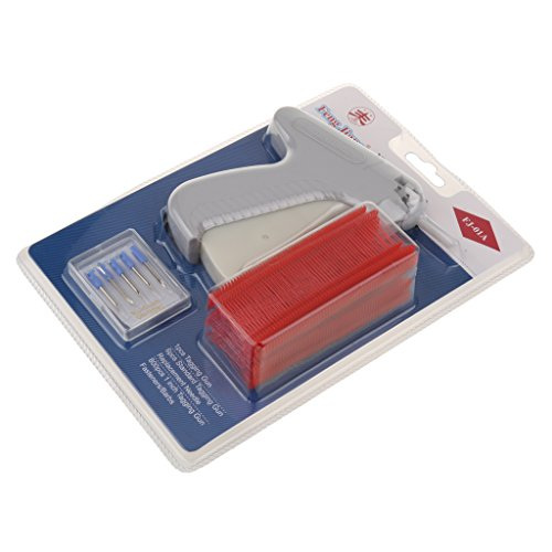 Generic Clothes Garment Price Label Tagging Gun+6 Tagging Needles+800 Barbs - red