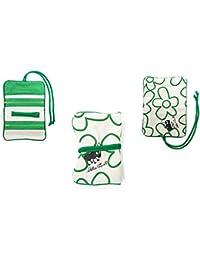 Joyero de viaje. Material ecológico, color verde