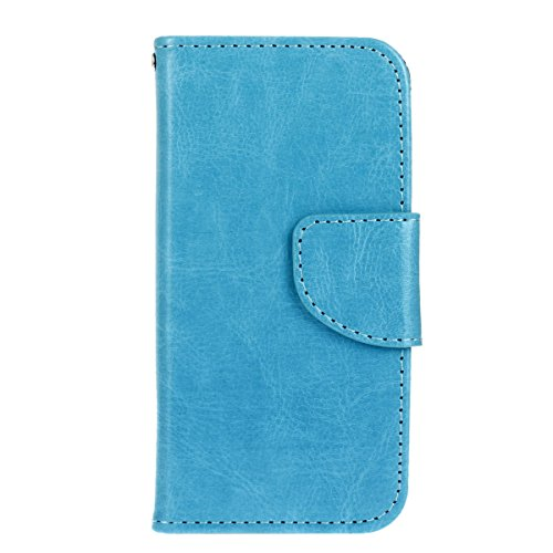 iPhone SE Hülle, iPhone 5 / 5s Schutzhülle Leder Hülle, Alfort 3 in 1 Flip Fashion Design Dual Use Falten Premium PU Leder Flip Mappen Kasten Abdeckung für Apple iPhone SE / 5 / 5s ( Rose ) + Netter S Blau