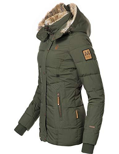 Marikoo Damen Winterjacke Steppjacke Nekoo Grün Gr. XL