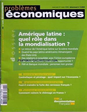 PROBLEMES ECONOMIQUES [No 2944] du 27/03...