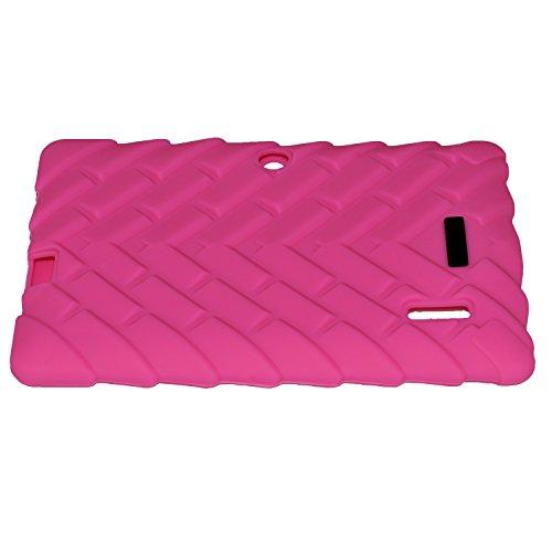 PUGO TOP Rugged Defender Antichoc Anti-Slip Kids 'Housse en Silicone pour Sélect Tablettes de 7 pouces ALLWINNER A13 A23 Q8 Q88 comprimé (rose)