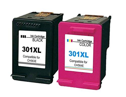 Ink_Seller - Cartuchos de tinta para impresora compatibles con HP 301XL de repuesto para DeskJet 1000, 1050 y1050A