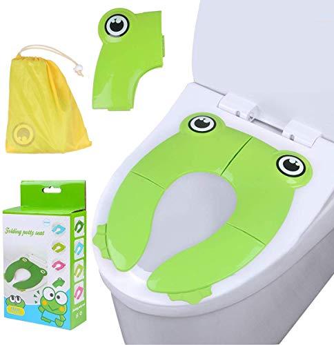 Teabelle Asiento de inodoro plegable para casa y viaje, cubierta para WC de más de 12 meses y hasta...