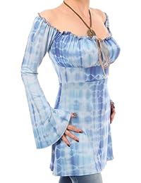 Blue Banana - Gypsy Haut style en tie dye bleu