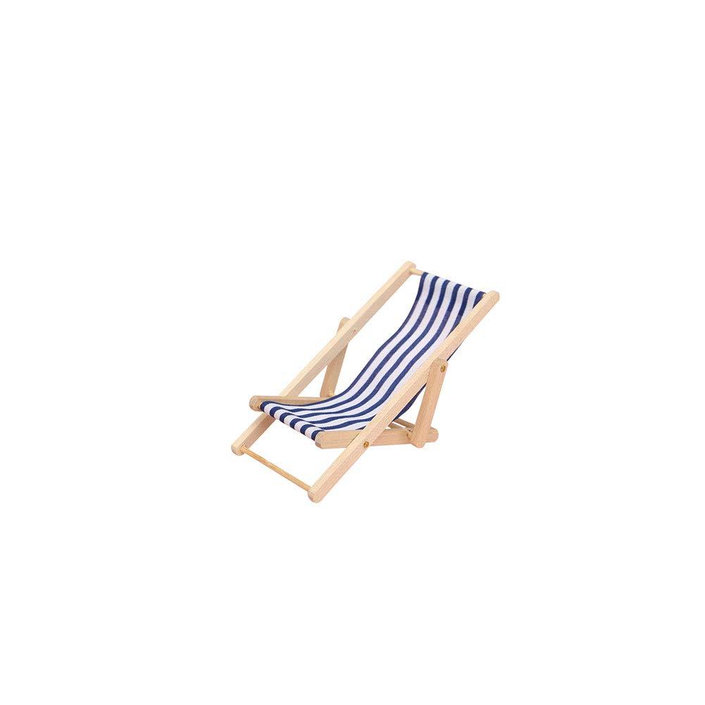 Sedia A Sdraio In Inglese.Miniature Beach Chair Toy House Mobili Accessori Pieghevole Mini Sedia A Sdraio A Righe Del Prato Inglese In Legno Per Dollhouse Blu 1pc Giochi
