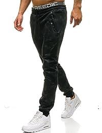 BOLF Pantaloni di Tuta – Tipo Jogger – con Motivo di Moda – con Coulisse – con sovraimpunture – con Stampe – Stile Street – da Uomo 6F6