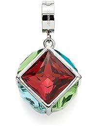 Leonardo Damen Anhänger Darlin's Cubo Edelstahl Glas mehrfarbig