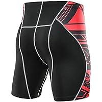 MOIKA Herren Sportshorts, Männer Sport Man's Printed Workout Leggings Fitness Sport Laufen Yoga Sportlich Kurze Hosen