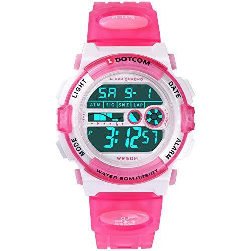 c2798ff195cd Socico Niños Digital Relojes para Niños Deportes–5 ATM Reloj Deportivo  Impermeable al Aire Libre