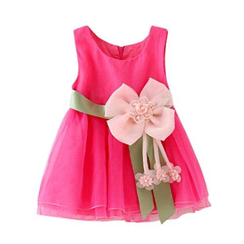 JERFER Blumen Sleeveless Grenadine Kleidung Dresss Kinder Baby Mädchen Tutu Prinzessin