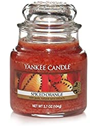 Yankee Candle Bougie en pot Parfum orange épicée, Small