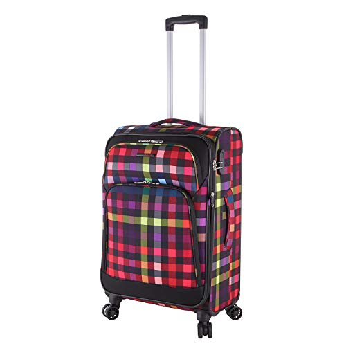 Rada Trolley Rainbow T1/S 67 Leichter Reisekoffer mit 4-360° Rollen, Teleskopgestänge, Zahlenschloss, Koffer wasserabweisend und strapazierfähig Polyester (65 Liter Volumen)