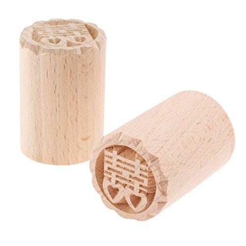 Holz Backform Kuchen Drücken Stempeln DIY Handwerk Werkzeug für Kuchen,Keks,Schokolade mit Chinese Wort,3.5x5cm (Drucken Handwerk Holz)