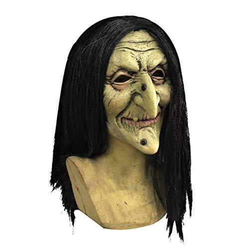 Weird Scary Mask Weibliche Geist Trick Maske Hexe Latex Gesicht Halloween Karneval Weihnachtsfeier Dekoration Latexmaske Bar Haunted House Movie Requisiten Horror Party Maske Erwachsene ()