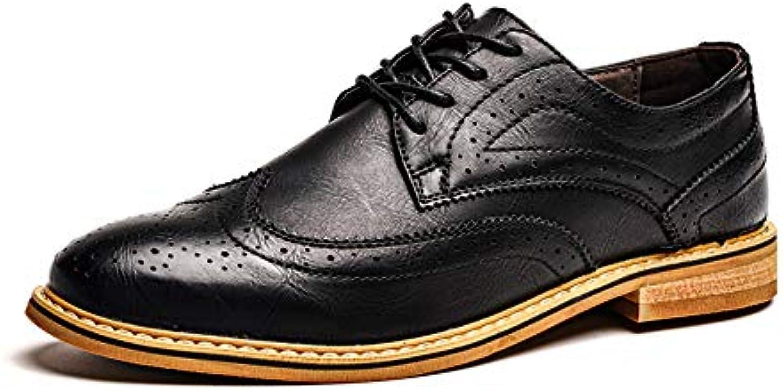 Xiazhi-scarpe, Elegante e Leggera per per per Uomo. Stampa Scarpe Casual Brogue Business Oxford (Coloree   Nero, Dimensione... | Design moderno  | Scolaro/Ragazze Scarpa  e13442
