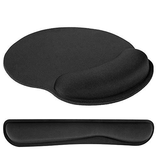 L&Z Mauspad, Ergonomische Handgelenkauflage Handballenauflage Mouse Tastatur Handgelenkstütze Set,...